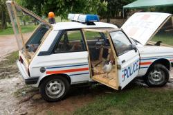 Benedetto bufalino police car chicken coop 2