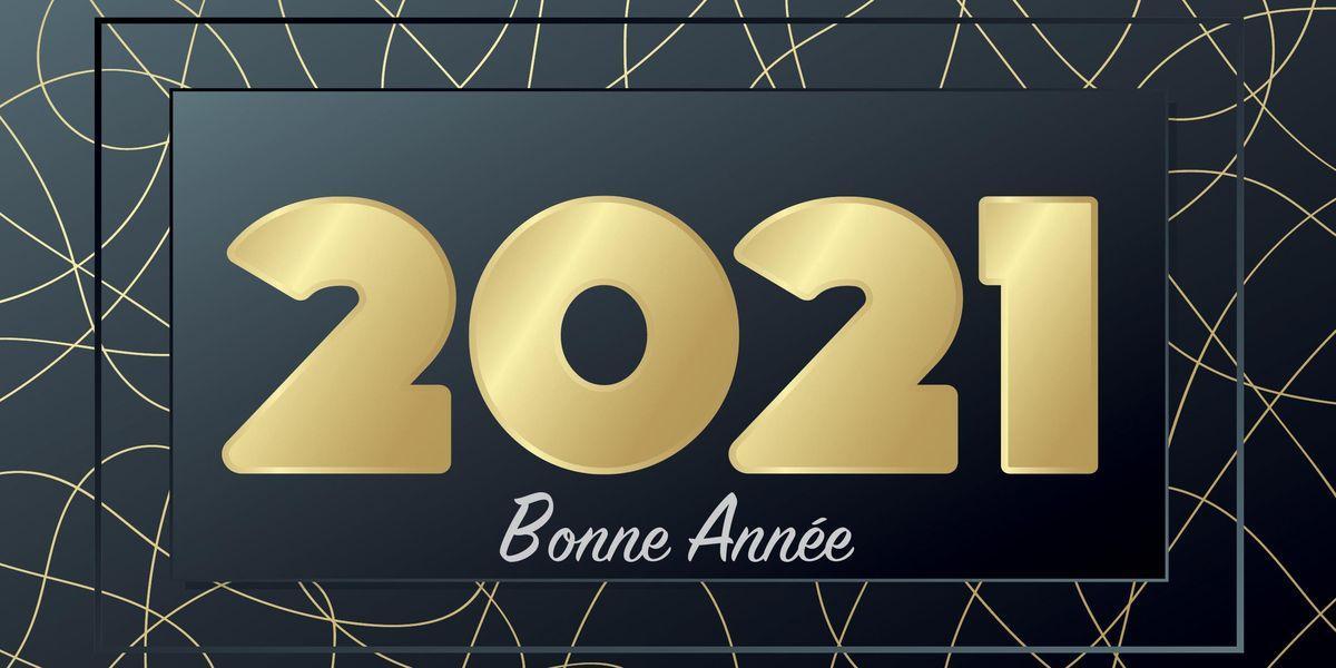 Carte de voeux publicitaire souhaits refcvp010111 calendriers saint jean 2021
