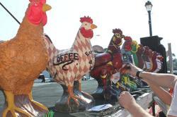 Concrete chickens